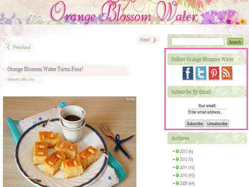 Dimah - http://www.orangeblossomwater.wordpress.com - Updates